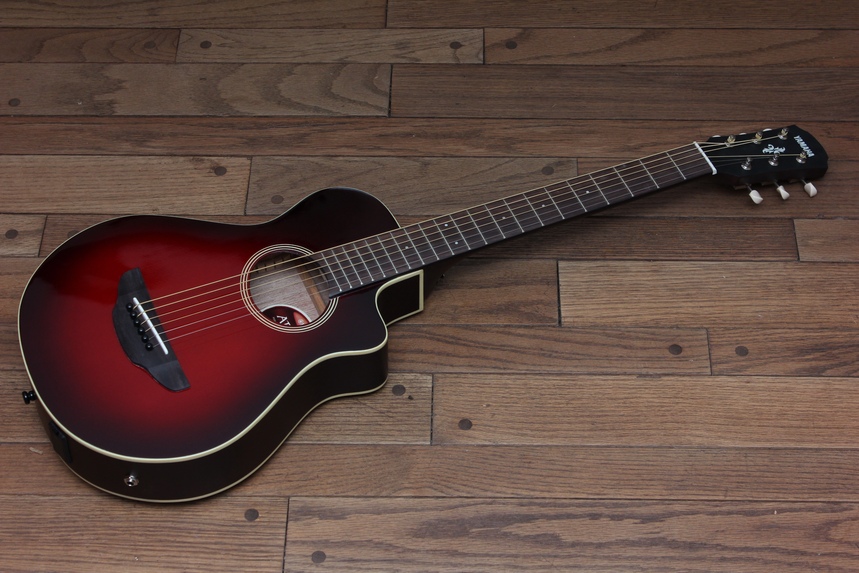 yamaha apxt2 dark red burst travel acoustic electric guitar guitars united. Black Bedroom Furniture Sets. Home Design Ideas